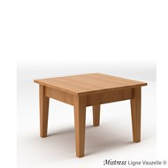 Table MISTRESS Basse L60 en Chêne