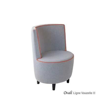 Chaise Lounge OVALI HAUT PASSEPOIL Finition Passepoil