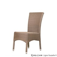 Chaise KONIA Imitation LOOM tressage imitation LOOM PVC.