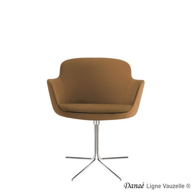 Fauteuil DANAE R6  Pied 4 Branches Tournant