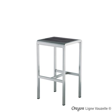 Tabouret OREGON latte Art Wood Gris Foncé.