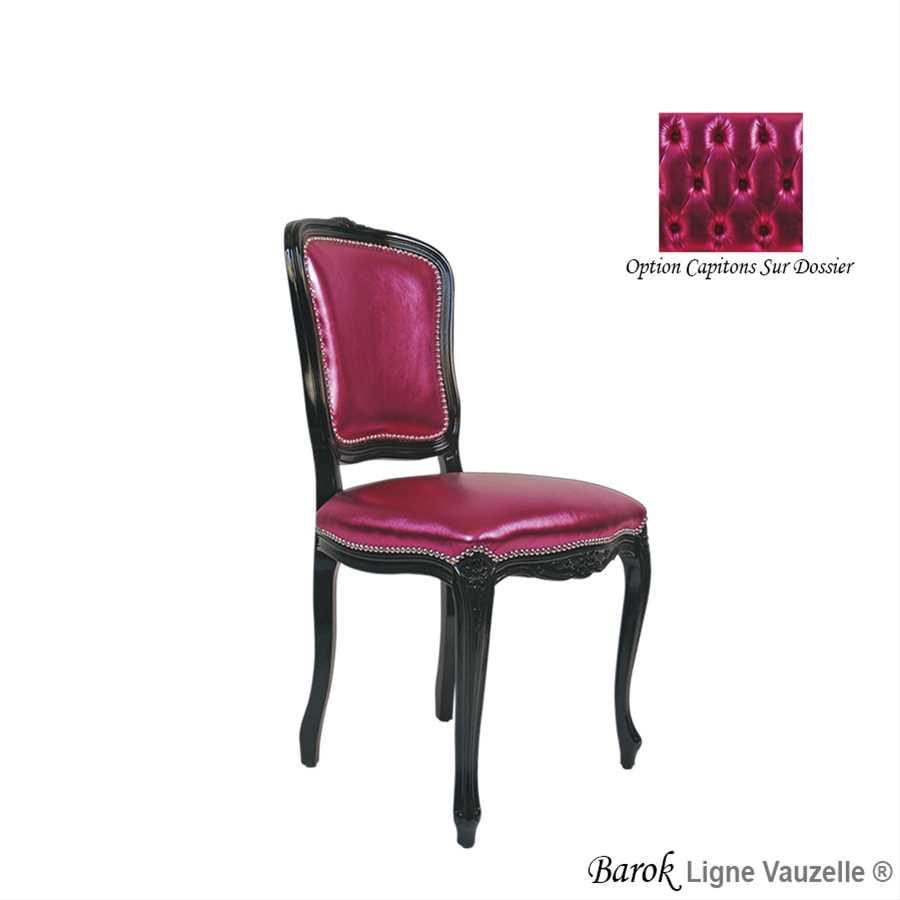 chaise barok dos lisse patins pvc finition bandes de clous ligne vauzelle. Black Bedroom Furniture Sets. Home Design Ideas