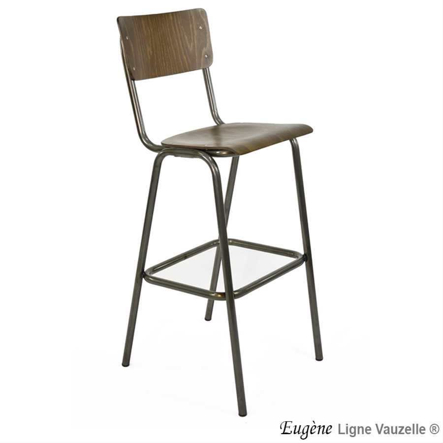 tabouret eugene bois hauteur d 39 assise 80cm ligne vauzelle. Black Bedroom Furniture Sets. Home Design Ideas