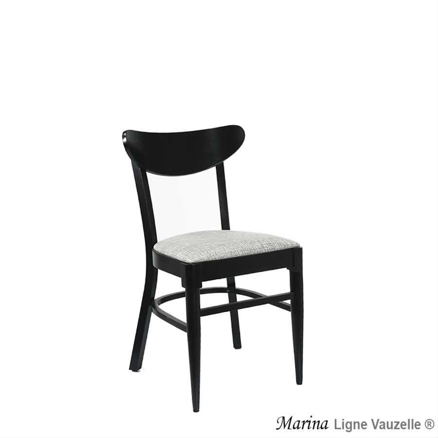 Chaise marina assise bois ou galette ligne vauzelle for Chaise hauteur assise 48