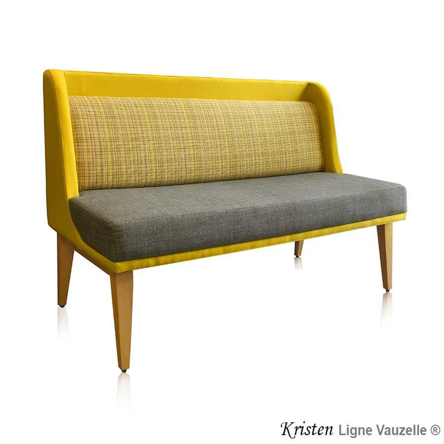 M L Banquette Actua Kristen Pieds Bois Retours Dossier En Option  # Banquette En Bois Design