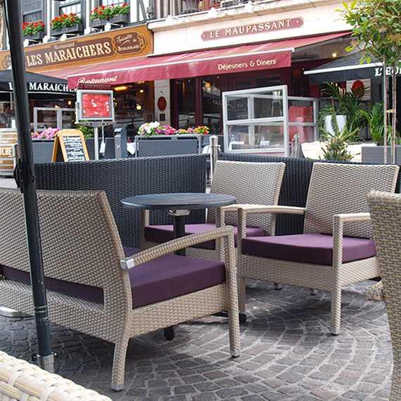 canap uno lounge 2 places aluminium tress ligne vauzelle. Black Bedroom Furniture Sets. Home Design Ideas